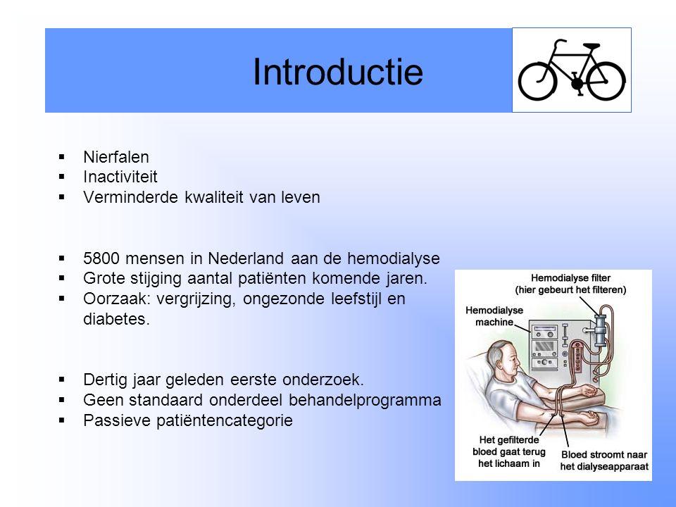 Introductie Nierfalen Inactiviteit Verminderde kwaliteit van leven