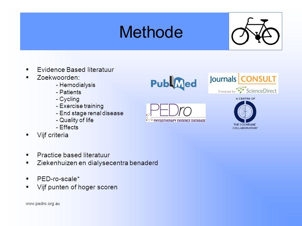 Methode Evidence Based literatuur Zoekwoorden: Vijf criteria