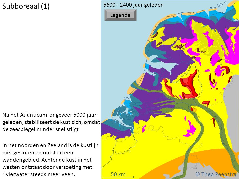 Subboreaal (1) © Theo Peenstra 5600 - 2400 jaar geleden Legenda