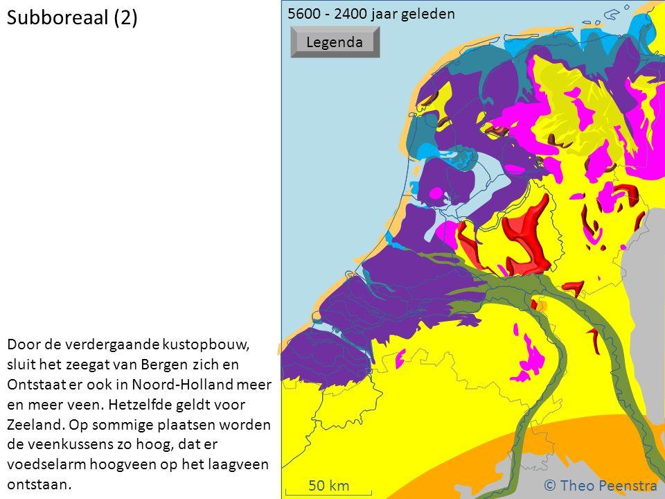 Subboreaal (2) atat © Theo Peenstra 5600 - 2400 jaar geleden Legenda