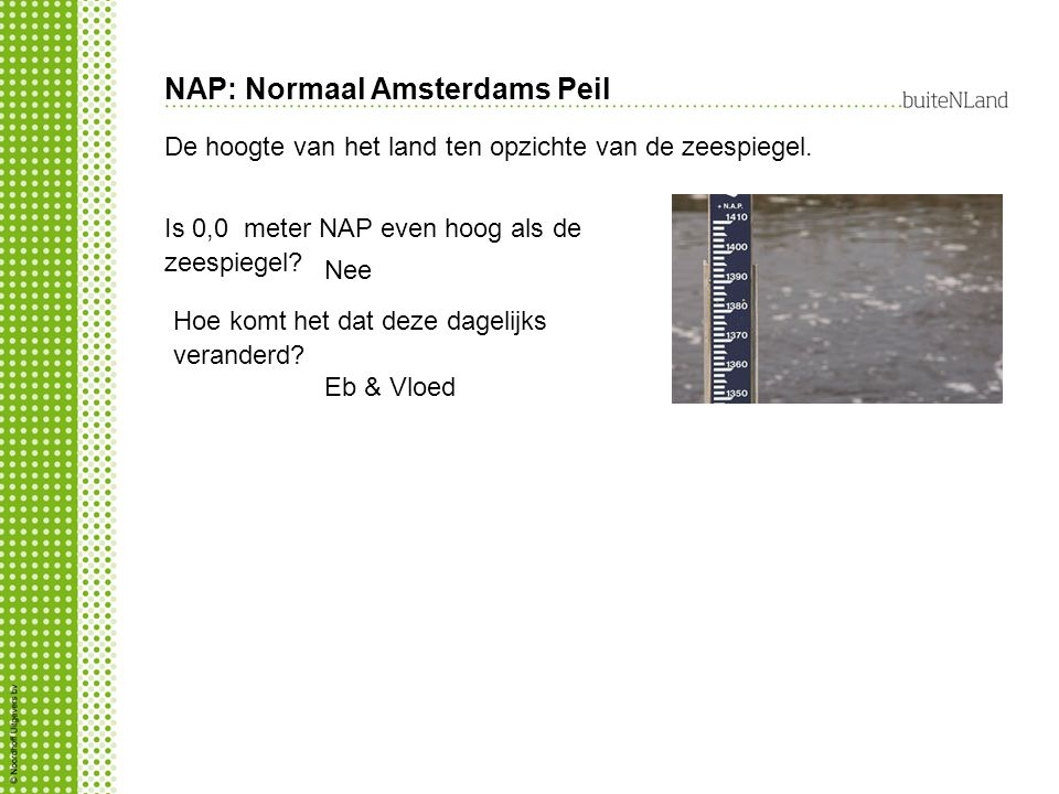 NAP: Normaal Amsterdams Peil