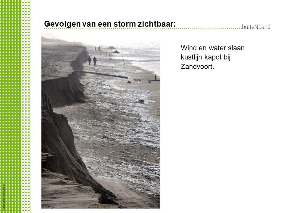 Gevolgen van een storm zichtbaar:
