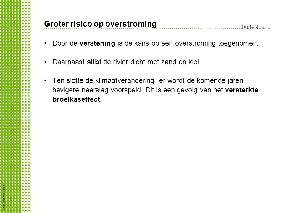 Groter risico op overstroming