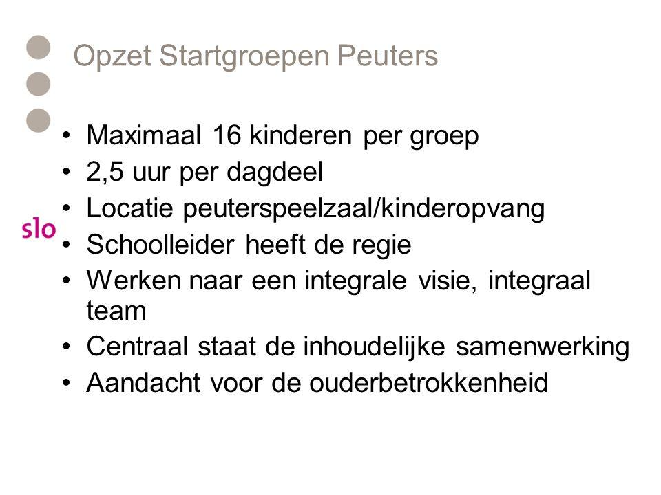 Opzet Startgroepen Peuters