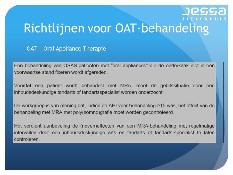 Richtlijnen voor OAT-behandeling