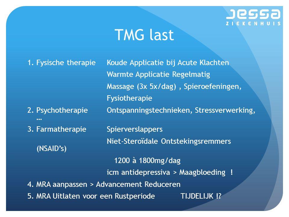 TMG last Fysische therapie Koude Applicatie bij Acute Klachten