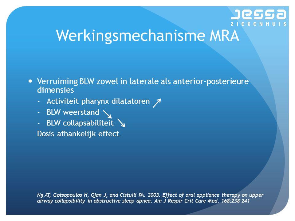 Werkingsmechanisme MRA