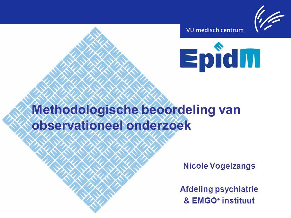 Methodologische beoordeling van observationeel onderzoek