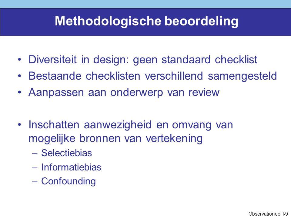 Methodologische beoordeling