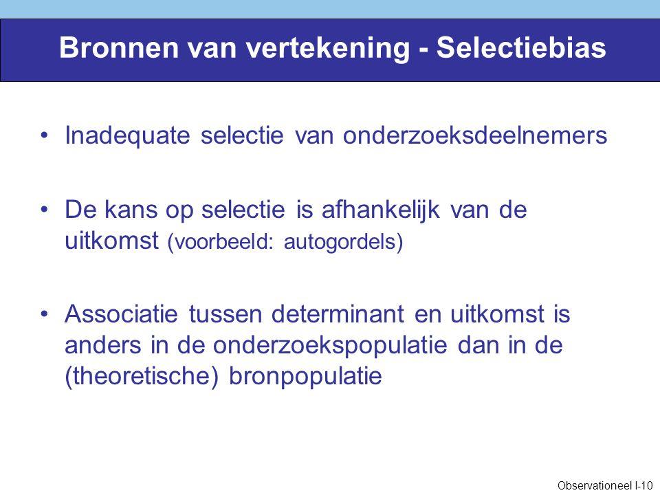 Bronnen van vertekening - Selectiebias