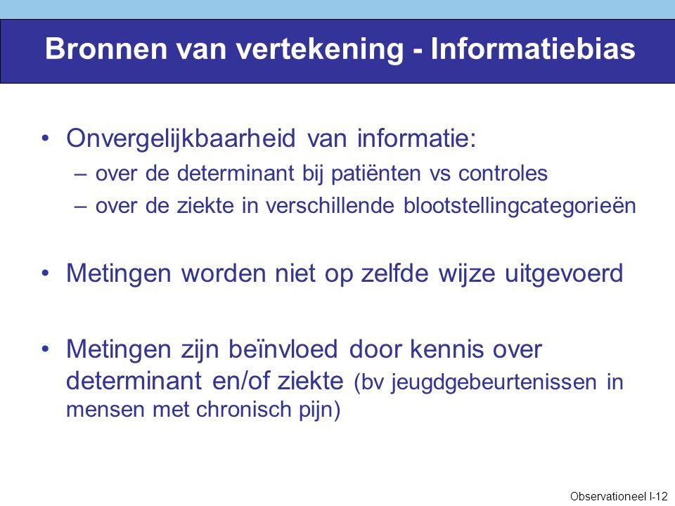 Bronnen van vertekening - Informatiebias