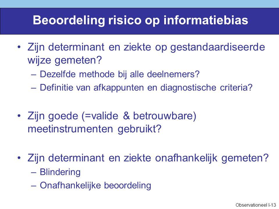Beoordeling risico op informatiebias