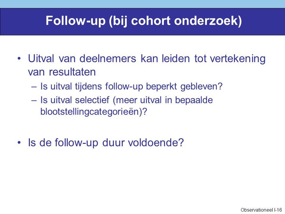 Follow-up (bij cohort onderzoek)