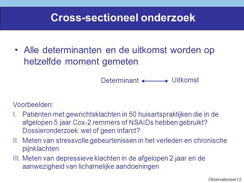 Cross-sectioneel onderzoek