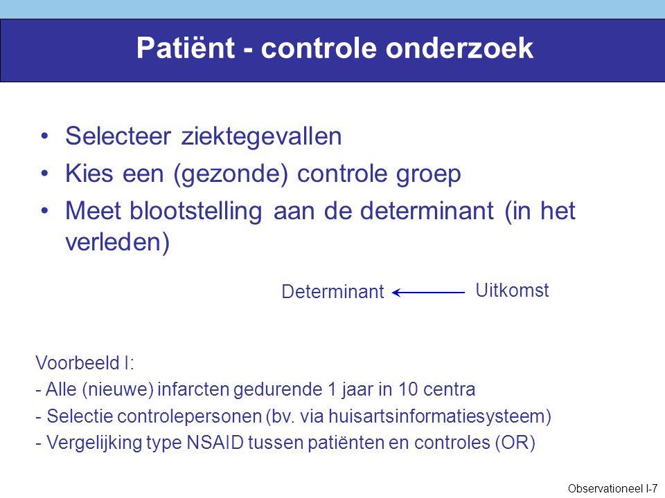 Patiënt - controle onderzoek
