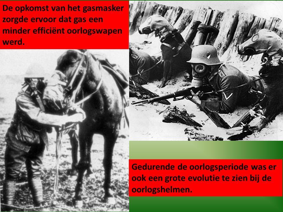 De opkomst van het gasmasker zorgde ervoor dat gas een minder efficiënt oorlogswapen werd.
