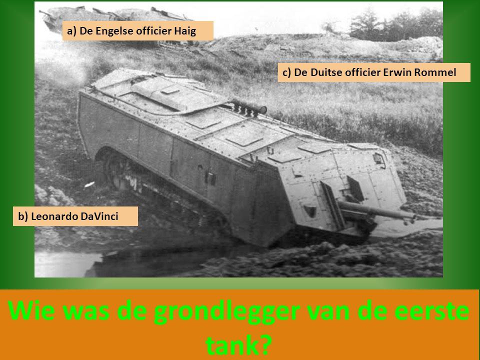 Wie was de grondlegger van de eerste tank