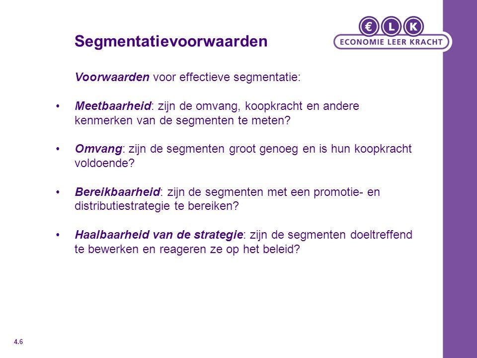 Segmentatievoorwaarden