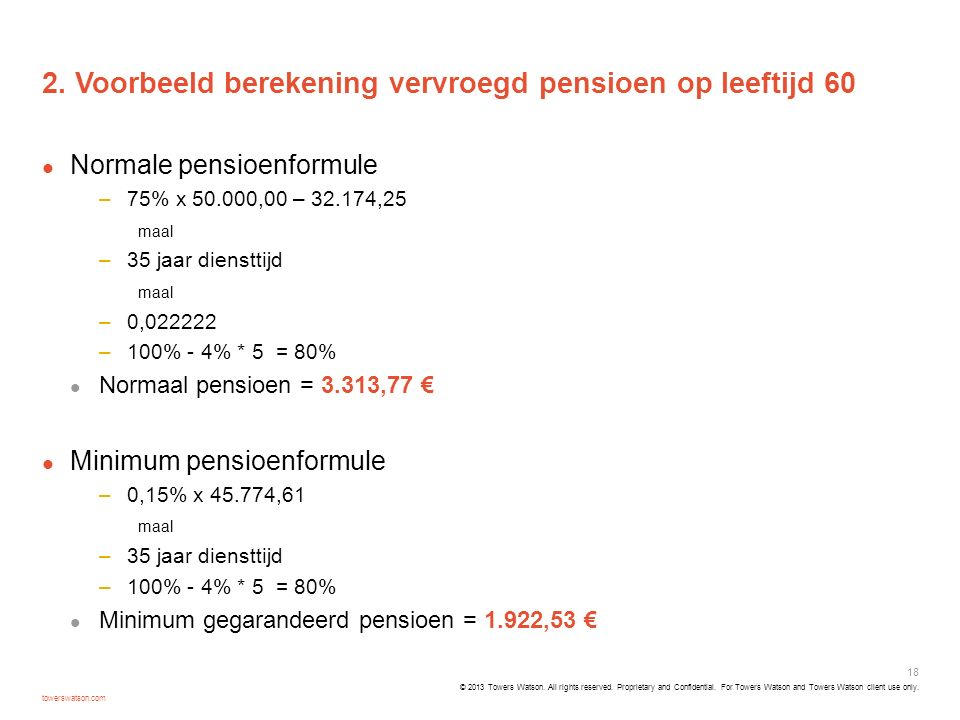 2. Voorbeeld berekening vervroegd pensioen op leeftijd 60