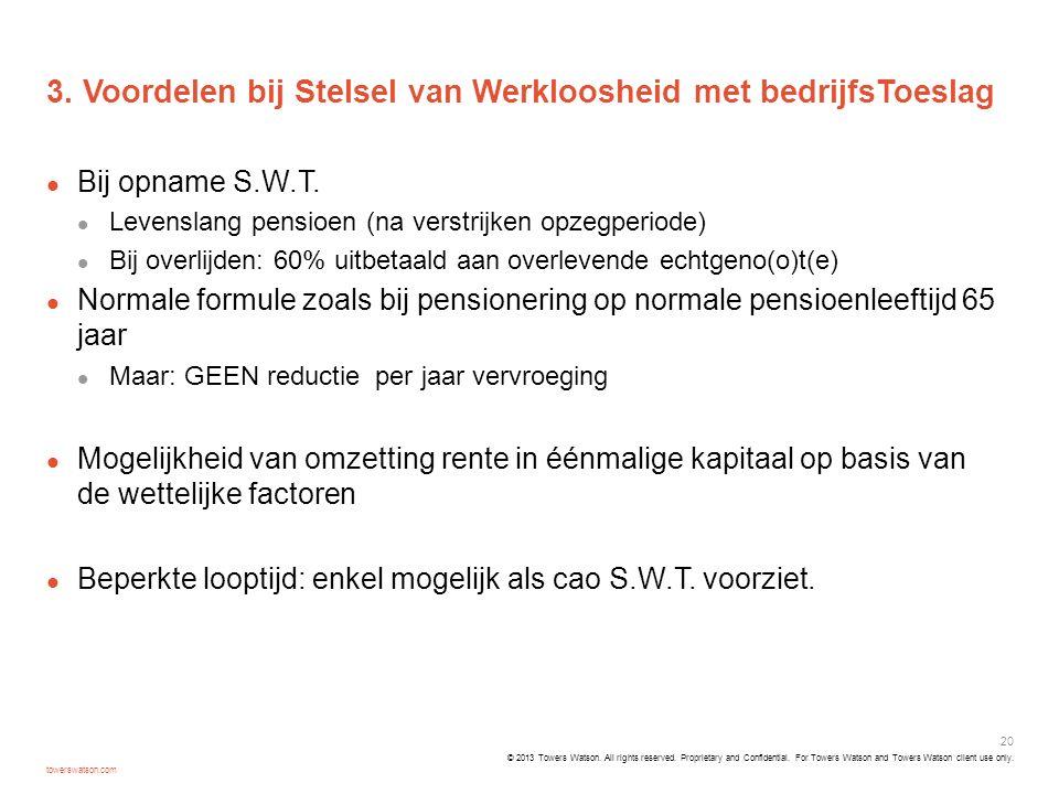 3. Voordelen bij Stelsel van Werkloosheid met bedrijfsToeslag