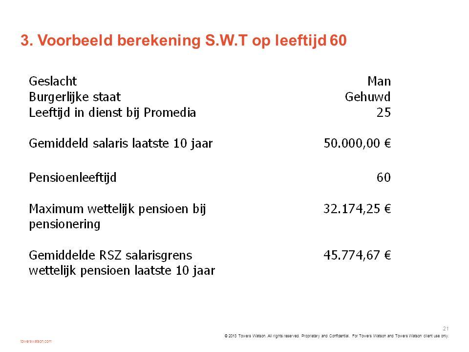 3. Voorbeeld berekening S.W.T op leeftijd 60