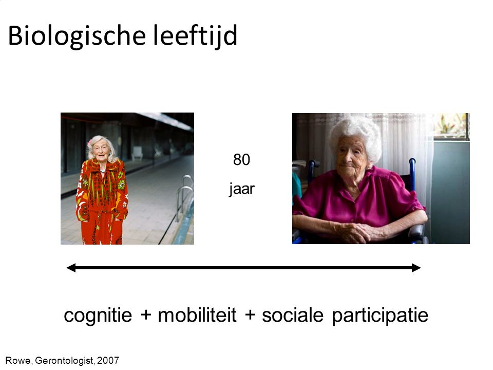 cognitie + mobiliteit + sociale participatie