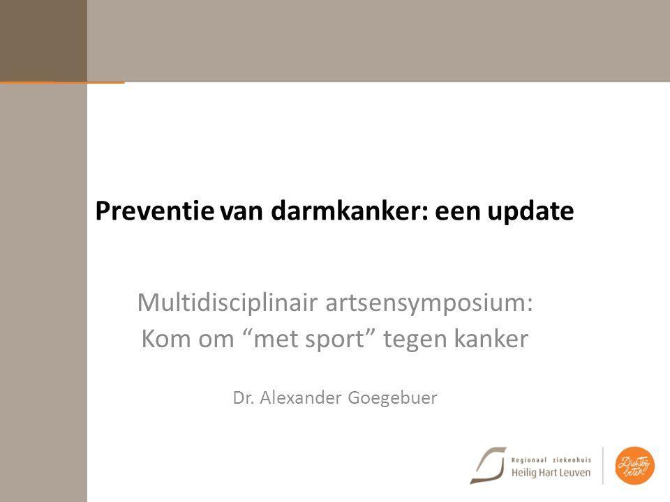 Preventie van darmkanker: een update