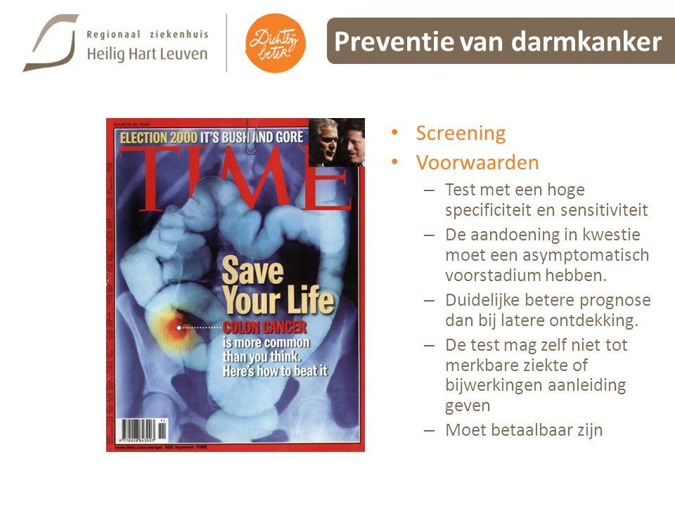 Preventie van darmkanker
