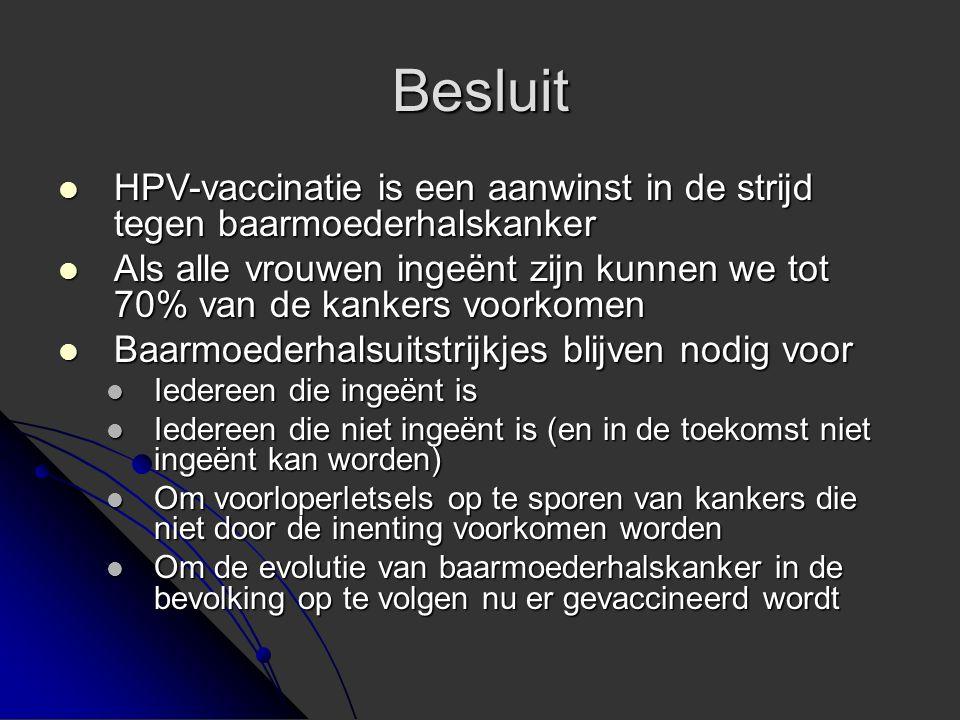 Besluit HPV-vaccinatie is een aanwinst in de strijd tegen baarmoederhalskanker.