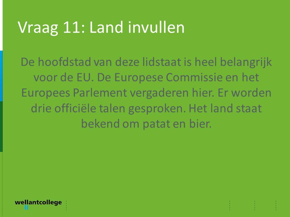 Vraag 11: Land invullen