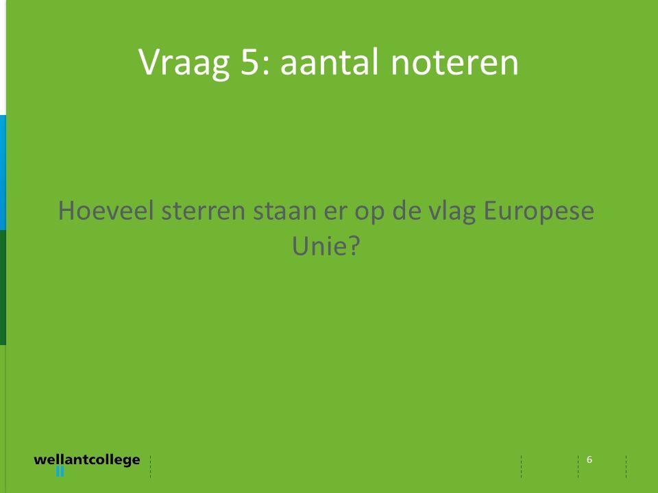 Hoeveel sterren staan er op de vlag Europese Unie