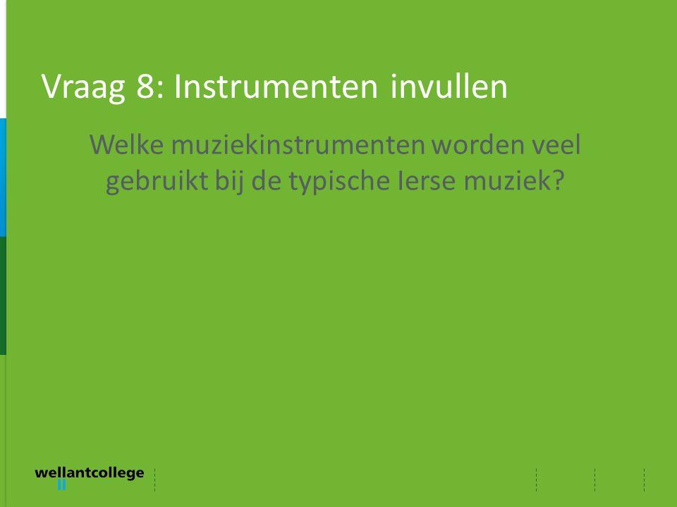 Vraag 8: Instrumenten invullen