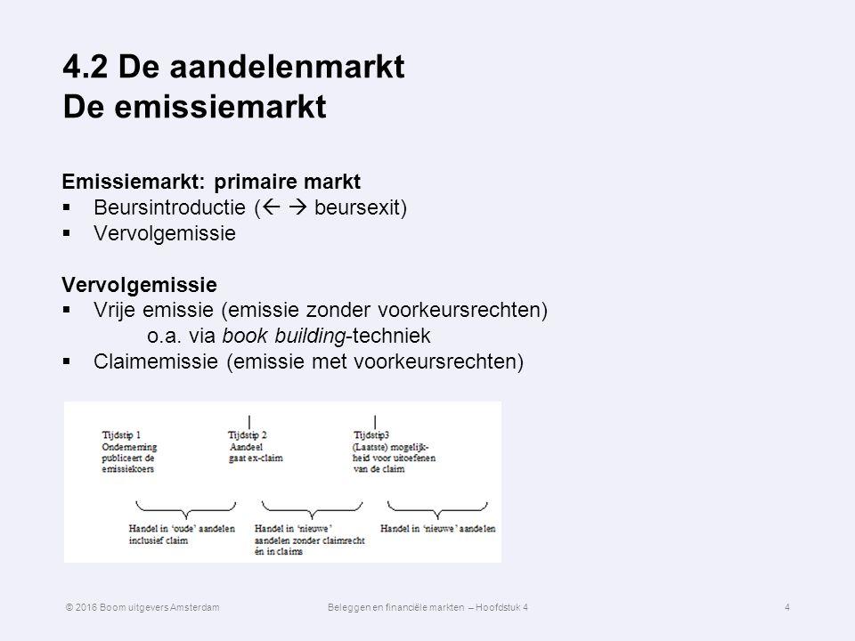4.2 De aandelenmarkt De emissiemarkt