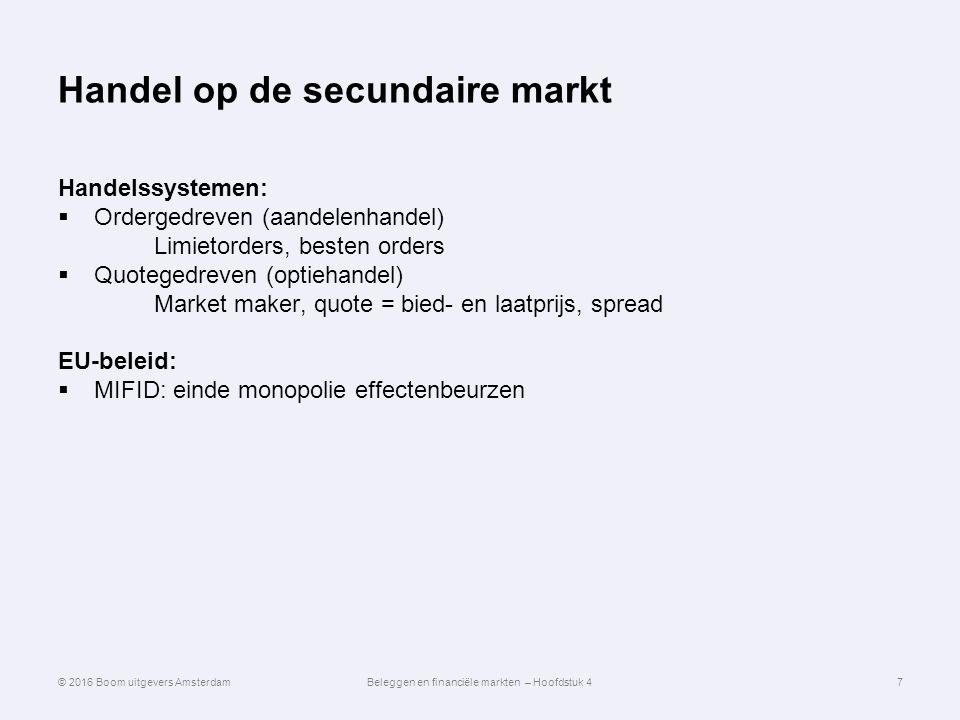 Handel op de secundaire markt