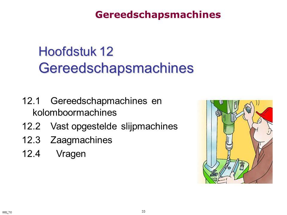 Hoofdstuk 12 Gereedschapsmachines
