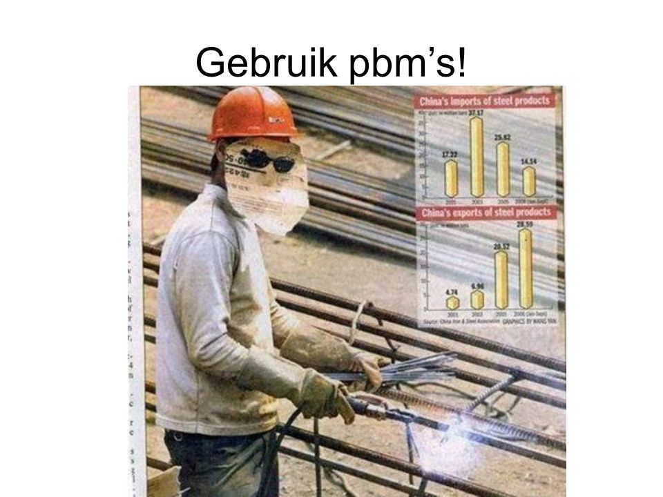 Gebruik pbm's!