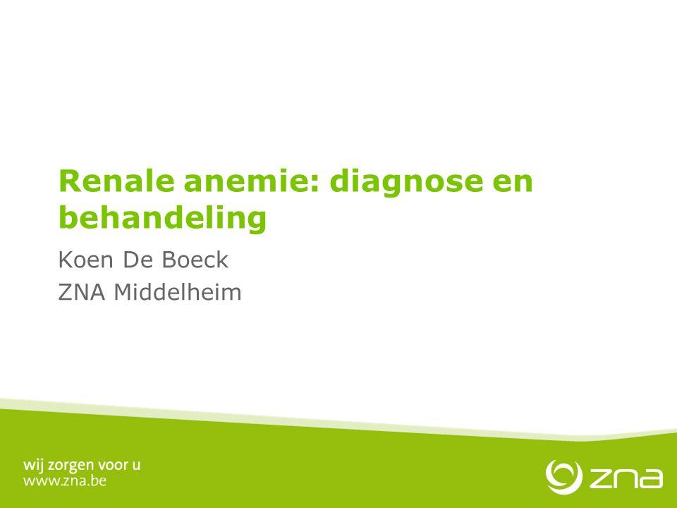 Renale anemie: diagnose en behandeling