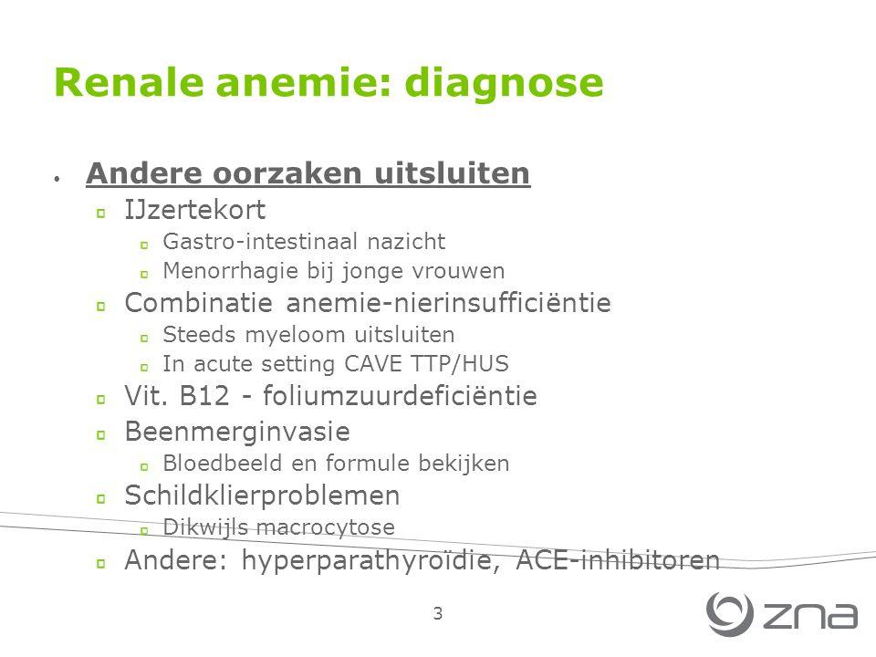 Renale anemie: diagnose