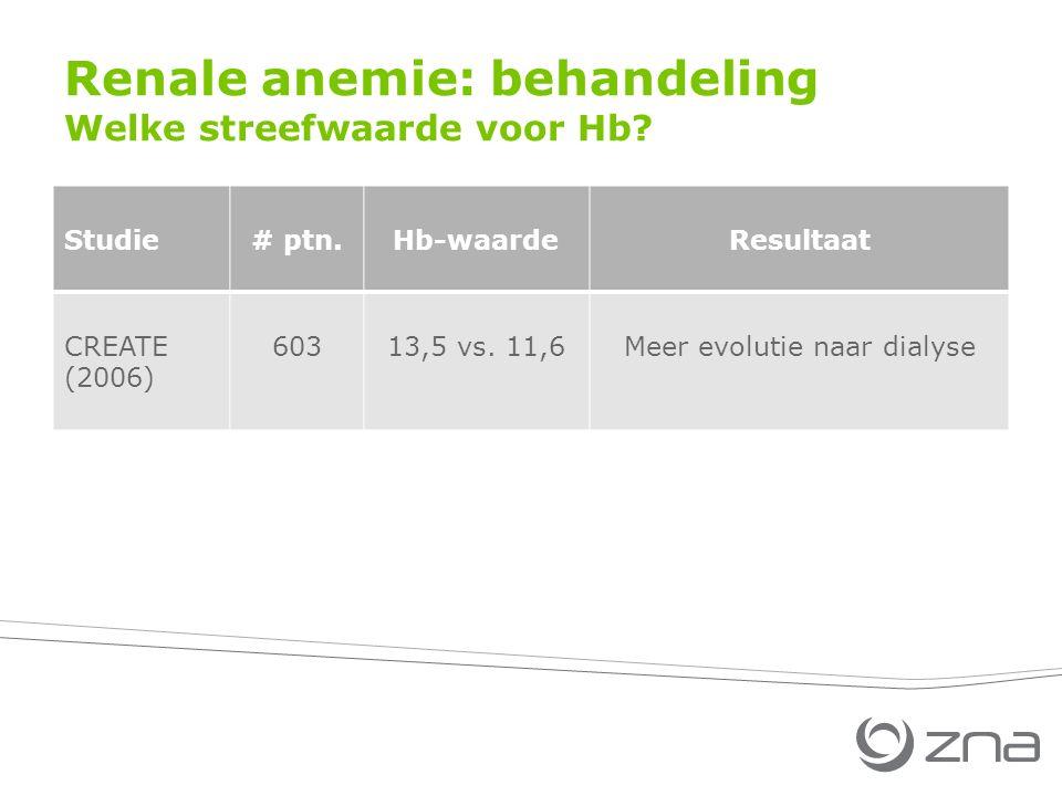 Renale anemie: behandeling Welke streefwaarde voor Hb