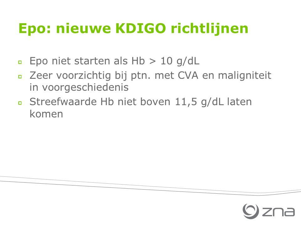 Epo: nieuwe KDIGO richtlijnen
