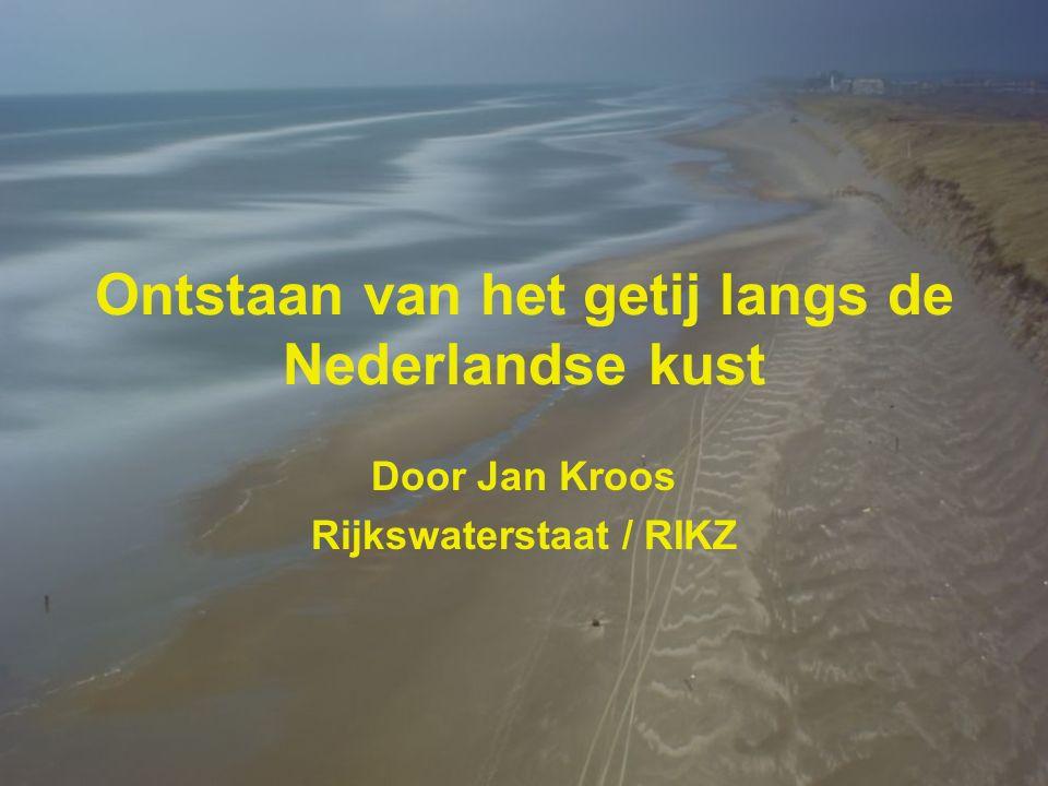 Ontstaan van het getij langs de Nederlandse kust