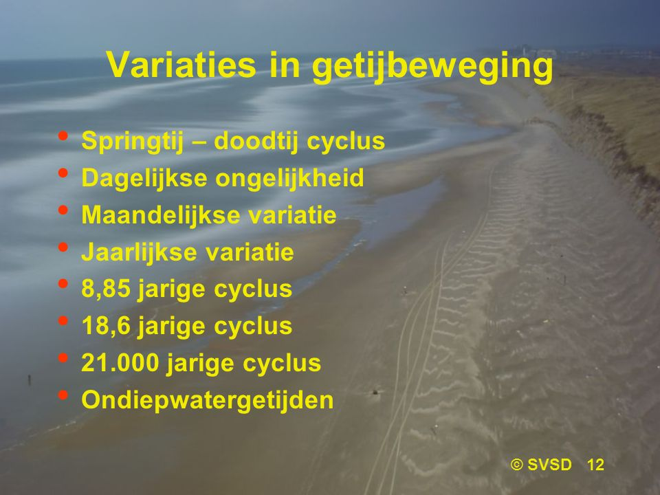 Variaties in getijbeweging