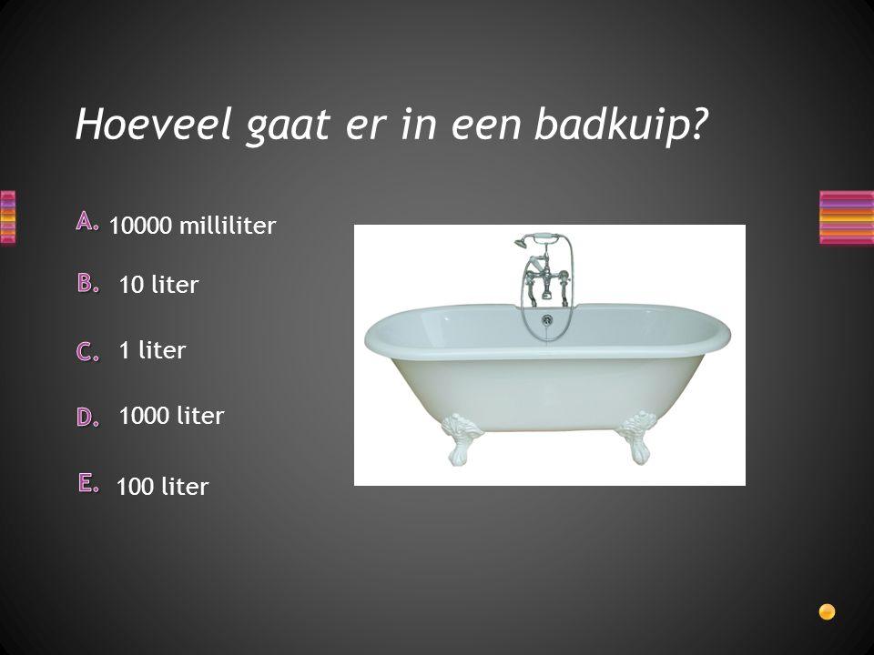 Hoeveel gaat er in een badkuip