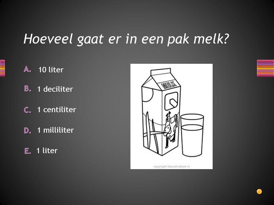 Hoeveel gaat er in een pak melk