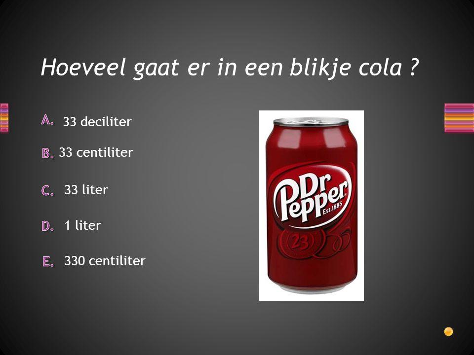 Hoeveel gaat er in een blikje cola