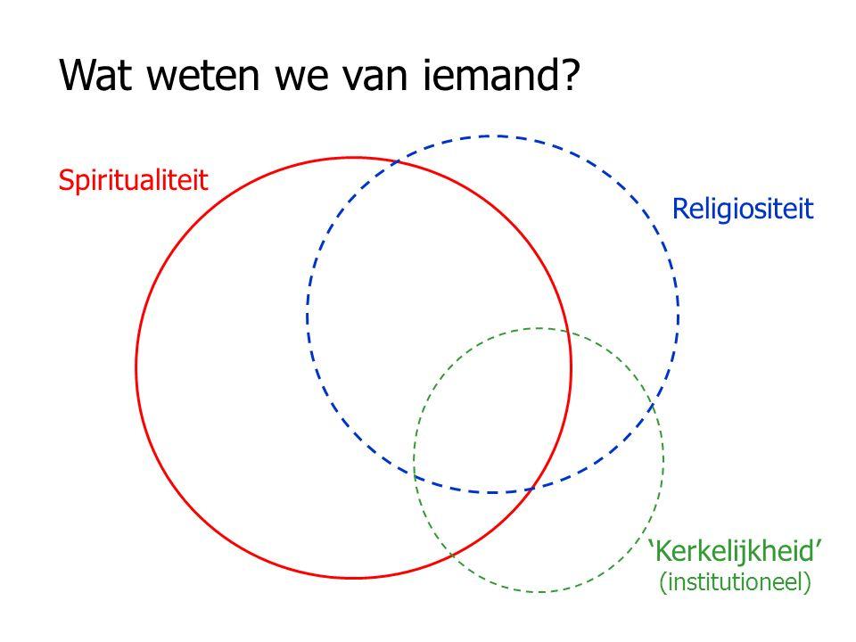 'Kerkelijkheid' (institutioneel)