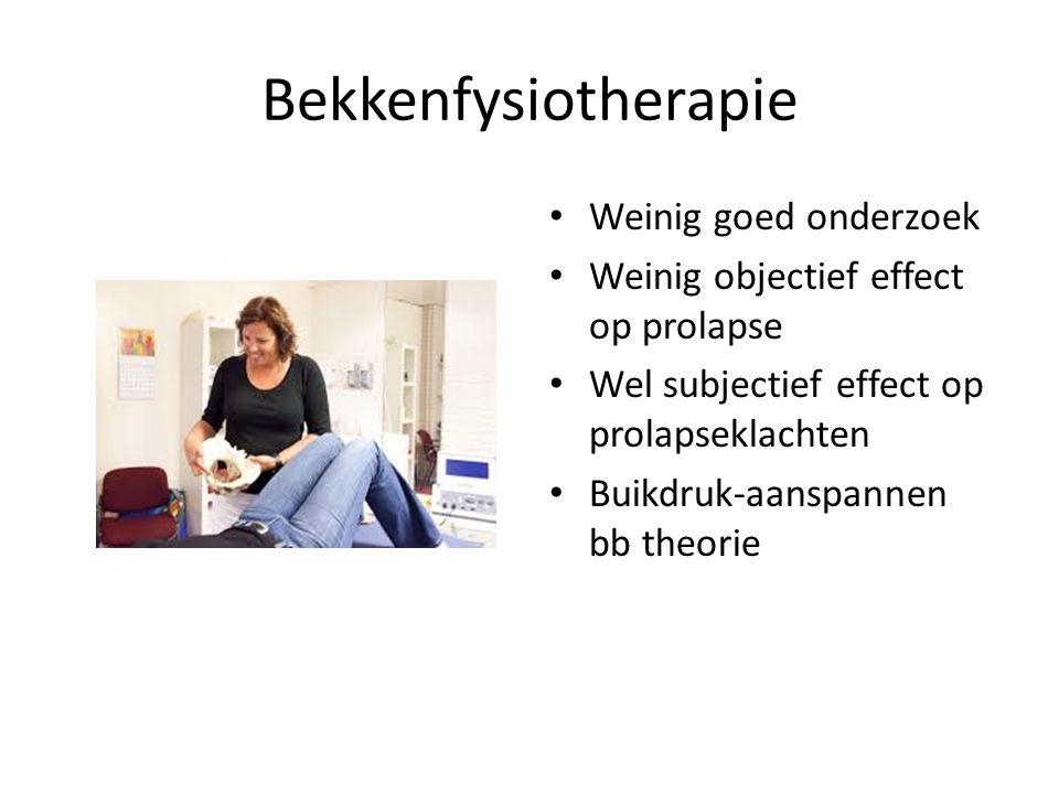 Bekkenfysiotherapie Weinig goed onderzoek
