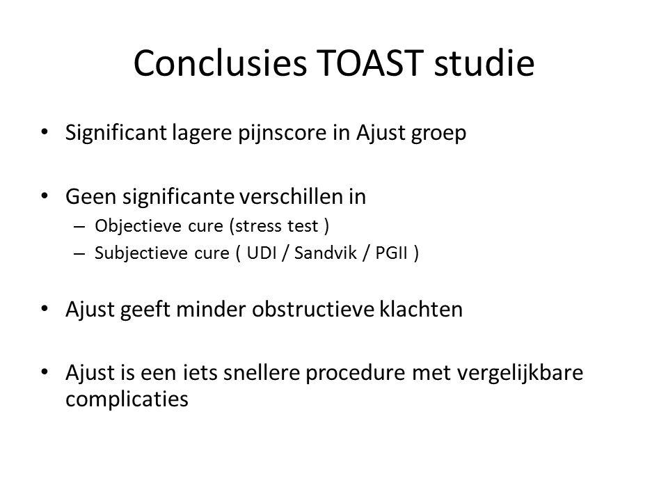 Conclusies TOAST studie