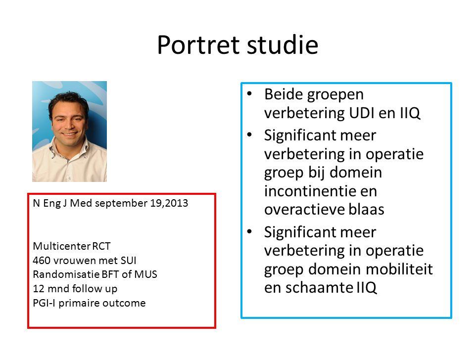 Portret studie Beide groepen verbetering UDI en IIQ