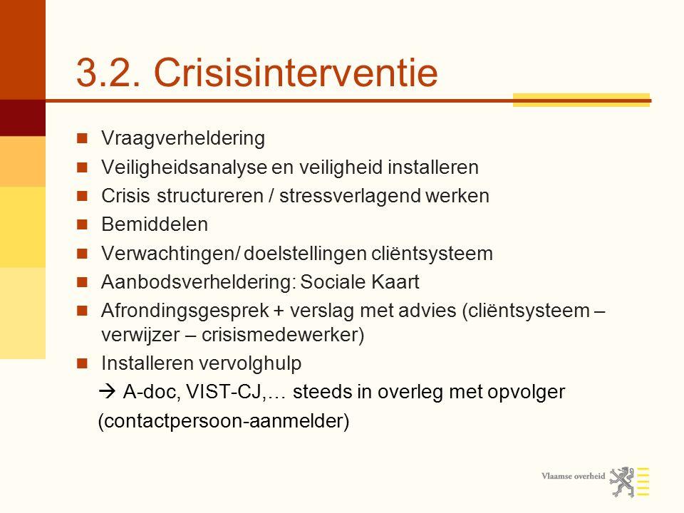 3.2. Crisisinterventie Vraagverheldering